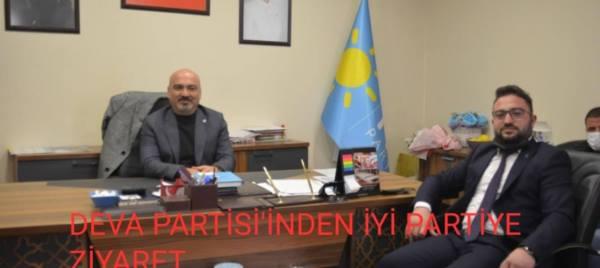 DEVA PARTİSİ İL BŞK TAŞLI İYİ PARTİ TEŞKİLATINI ZİYARET ETTİ...