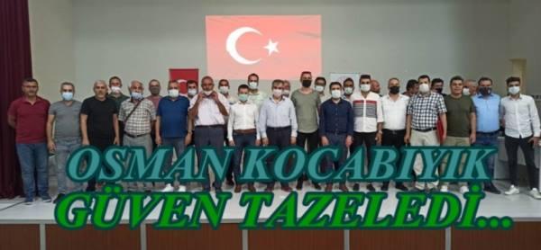 UŞAK ASKF'DE OSMAN KOCABIYIK GÜVEN TAZELEDİ.